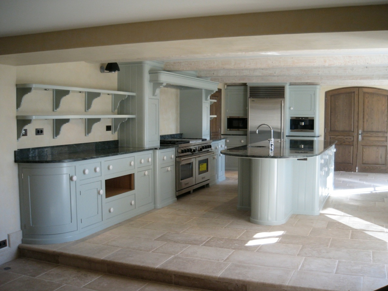 Hand painted kitchen St Tropez France