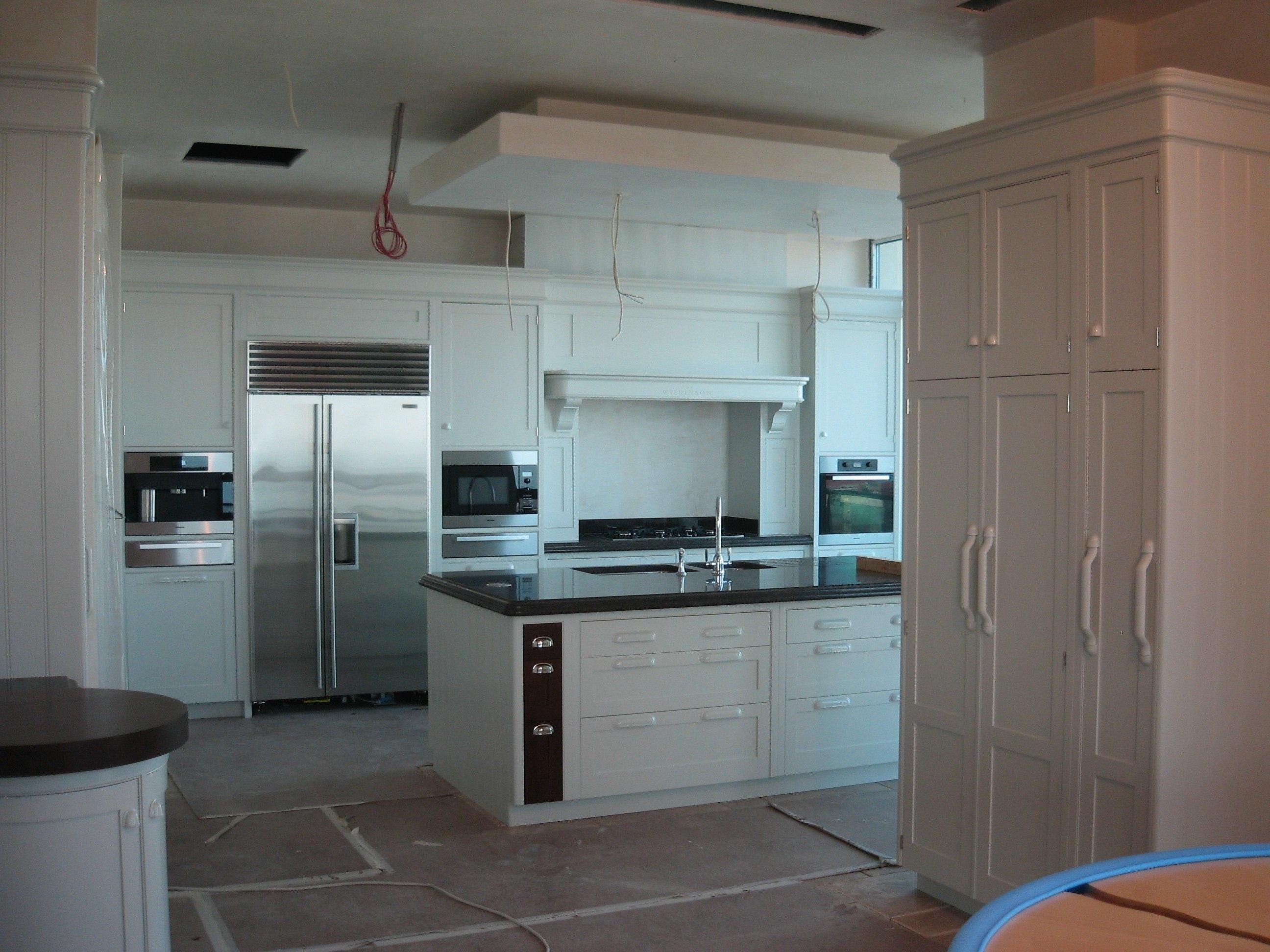 Hand painted kitchen Baku Azerbaijan | Kevin Mapstone