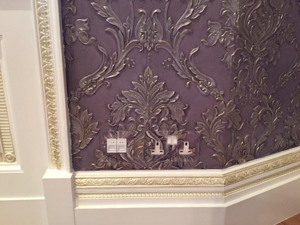 Lincrusta paint effect in Westminster London