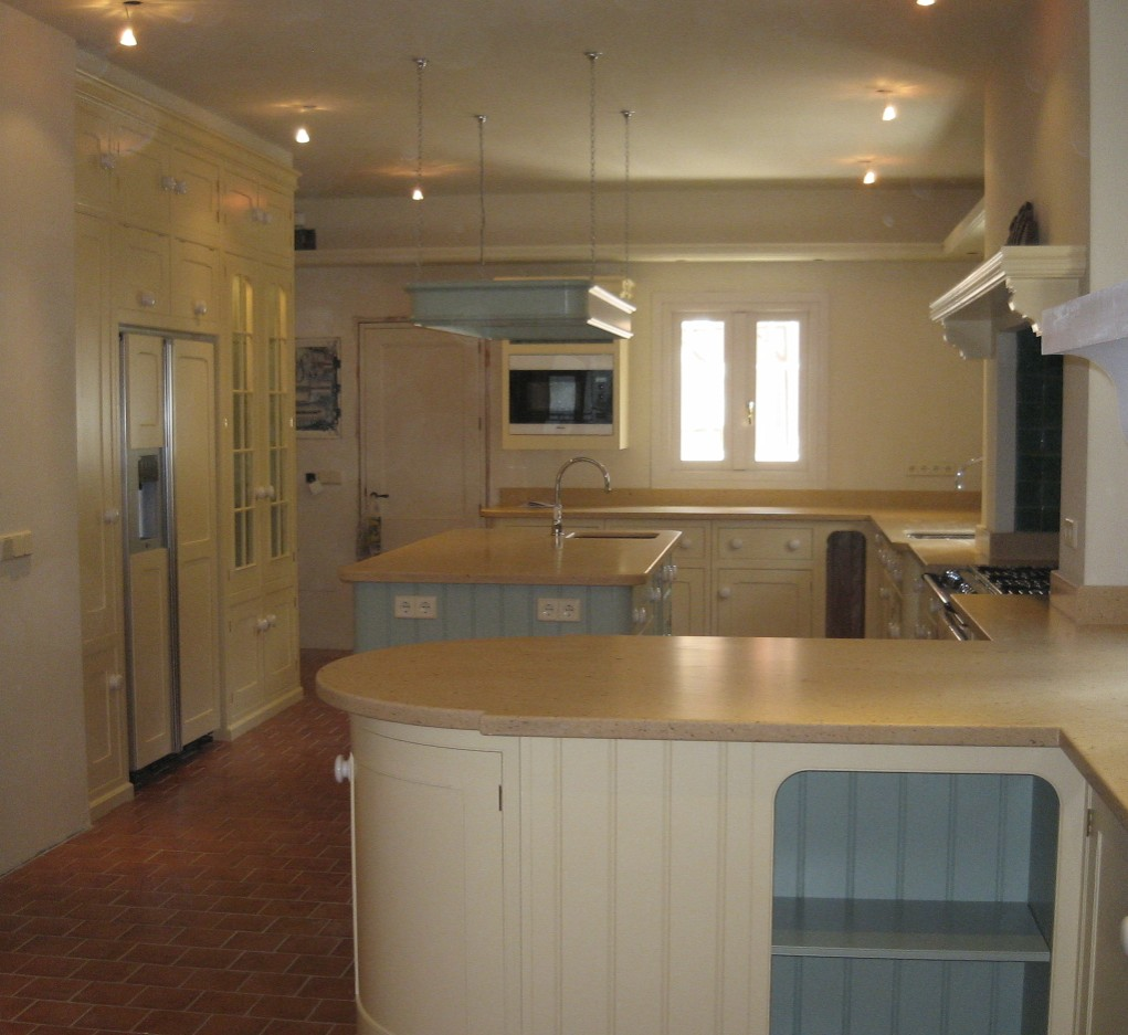 Hand painted kitchen in Marbella Spain