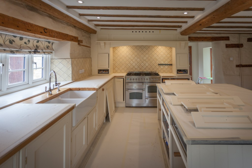 Hand painted kitchen Wiltshire Swindon | Kitchen furniture all degreased and protected ready for painting.