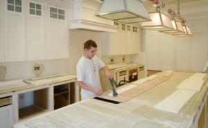 Preparing a hand painted kitchen