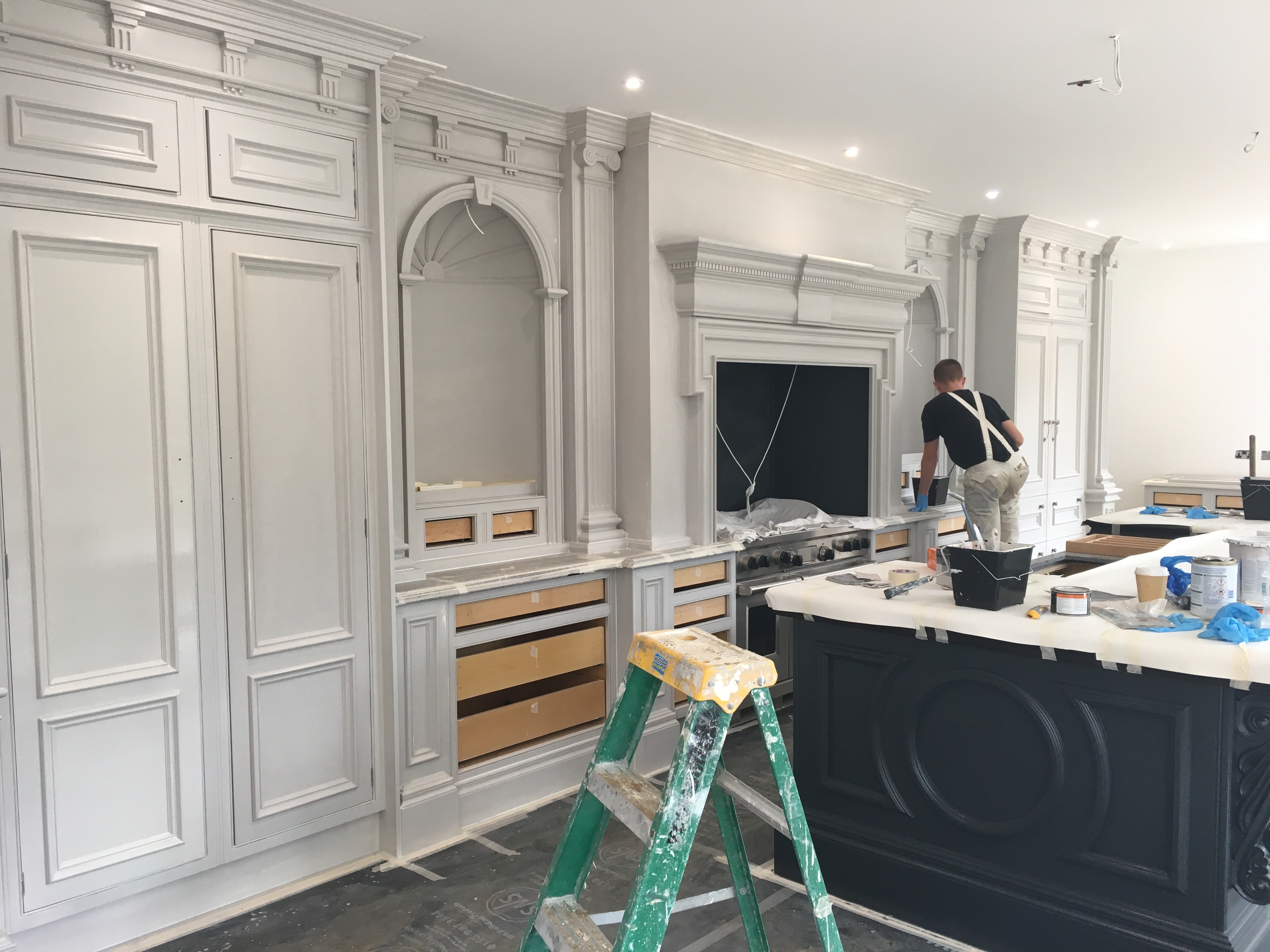 Re-painting a Clive Christian Kitchen | Kevin Mapstone